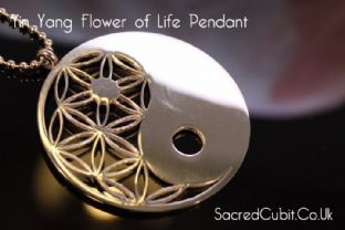 5G PROTECTION - Yin Yang Flower of Life Sacred Geometric Symbol Pendant